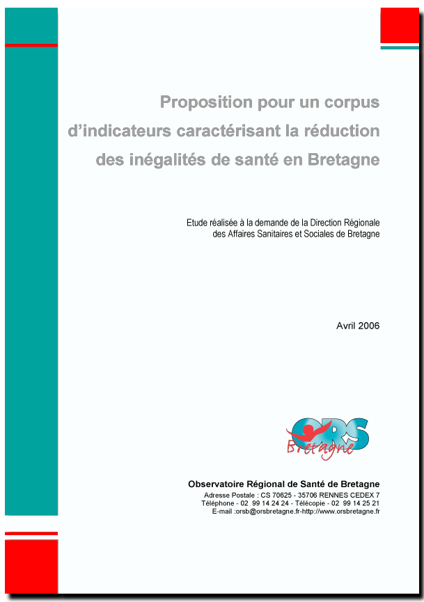 Inegalites santé indicateurs