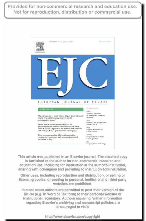 Artcile European journal of cancer